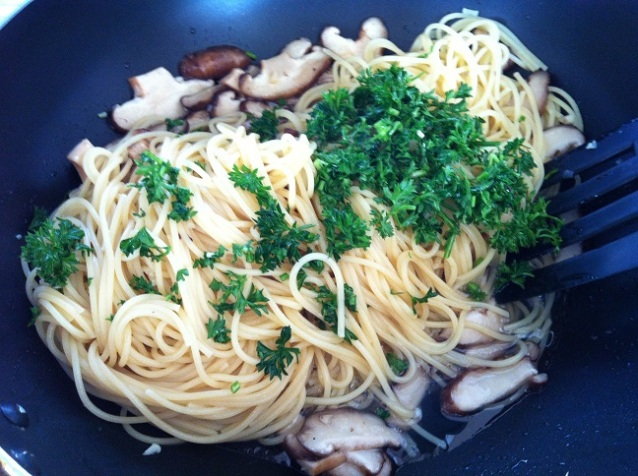 Pasta Marsala with Fresh Shiitake Mushrooms