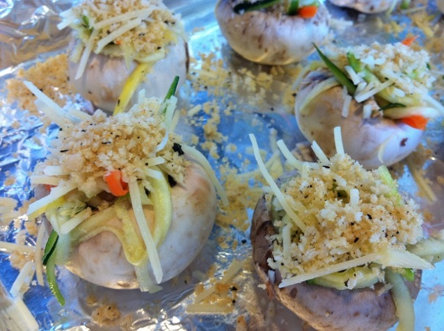 Baked Mushrooms Stuffed with Summer Vegetables   Cooking with a Wallflower