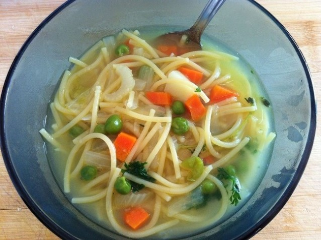 Vegetable Noodle Soup | Cooking with a Wallflower