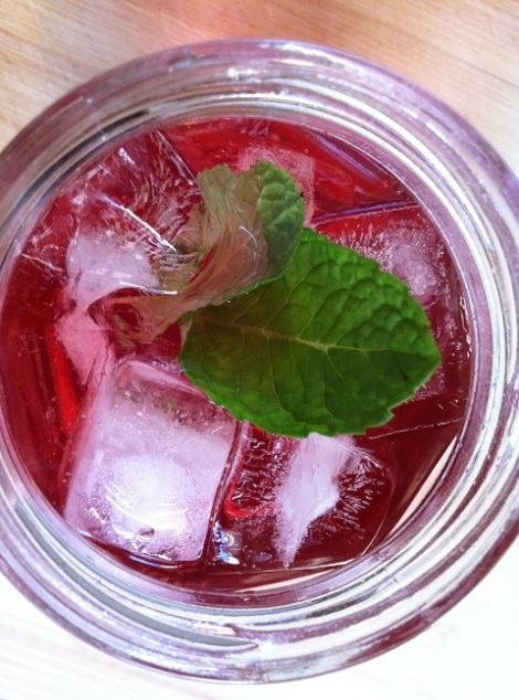 Minty Lemon Cranberry Apple Ginger Ale Soda | Cooking with a Wallflower
