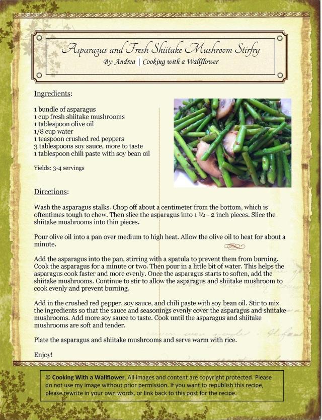 Asparagus and Shiitake Mushroom Stir-fry Recipe Card