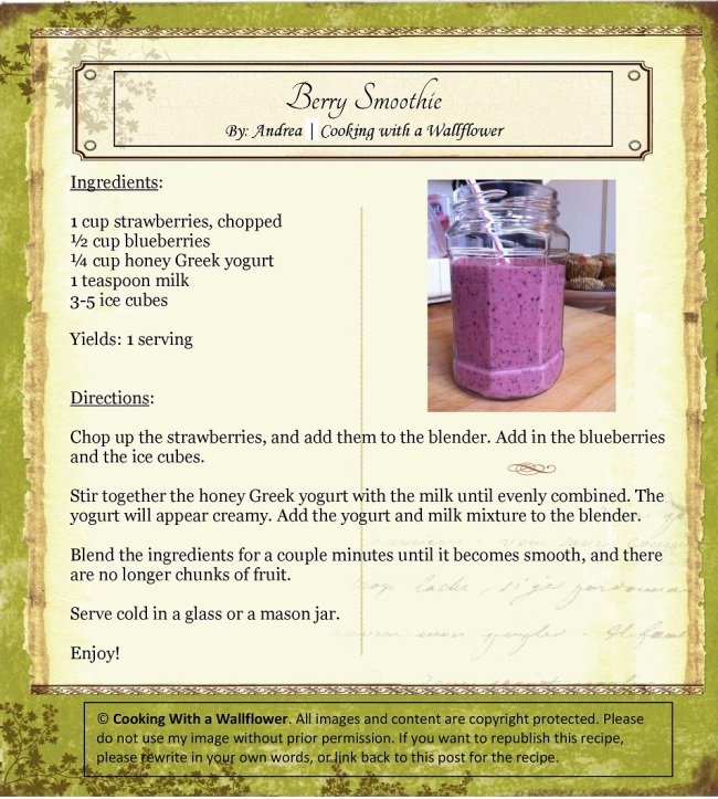 Berry Smoothie | Cooking with a Wallflower