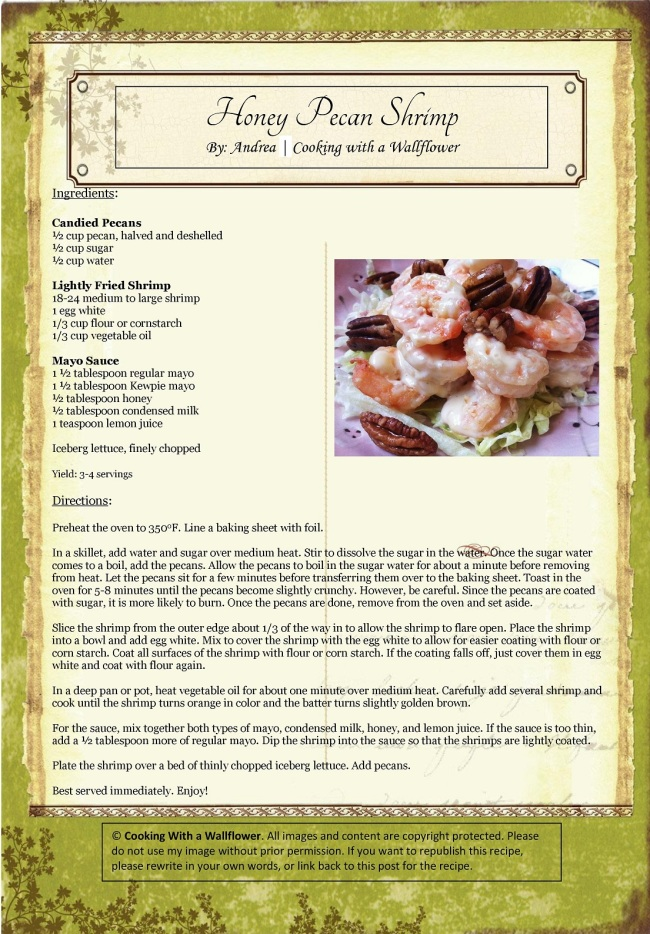 Honey Pecan Shrimp | Cooking with a Wallflower