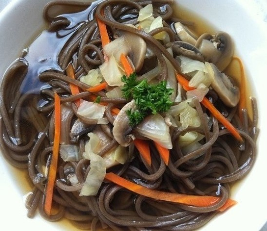 Buckwheat Noodle Soup with Vegetables | Cooking with a Wallflower