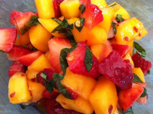 Strawberry Mango Salsa | Cooking with a Wallflower