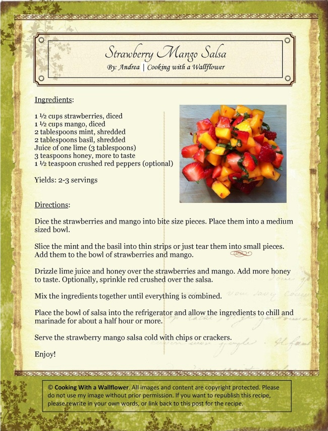 Strawberry Mango Salsa   Cooking with a Wallflower