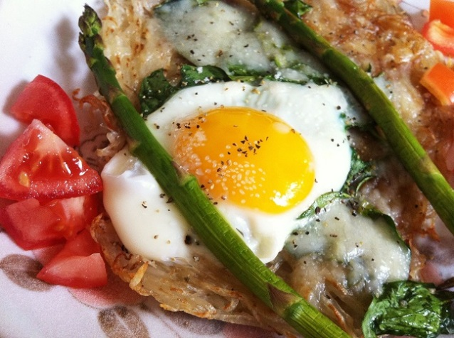 Baked Egg, Spinach, and Asparagus Hash | Cooking with a Wallflower