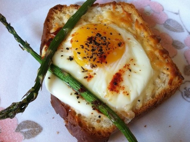 Baked Egg Topped with Asparagus on Toast | Cooking with a Wallflower