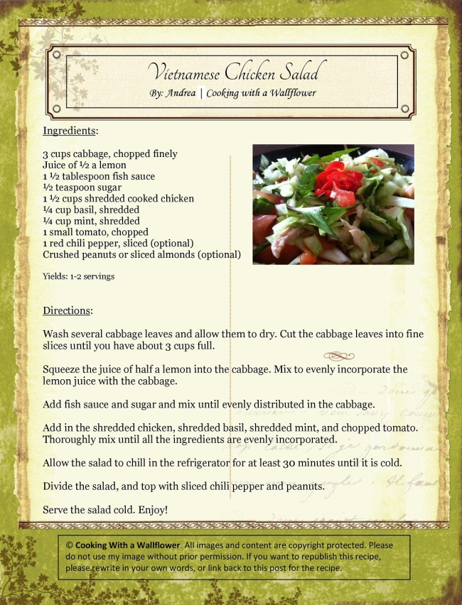 Vietnamese Chicken Salad   Cooking with a Wallflower