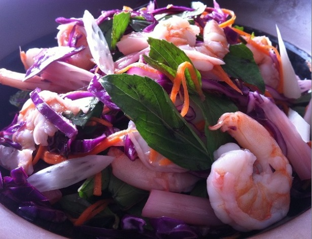 Shrimp and Lotus Rootlet Salad | Cooking with a Wallflower