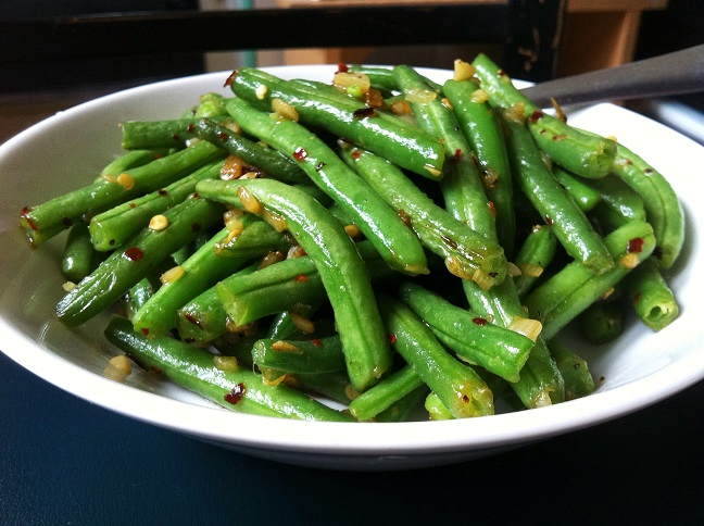Spicy Garlic String Beans   Cooking with a Wallflower