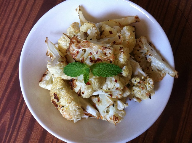 Roasted Garlic Cauliflower with Lemon Pepper | Cooking with a Wallflower