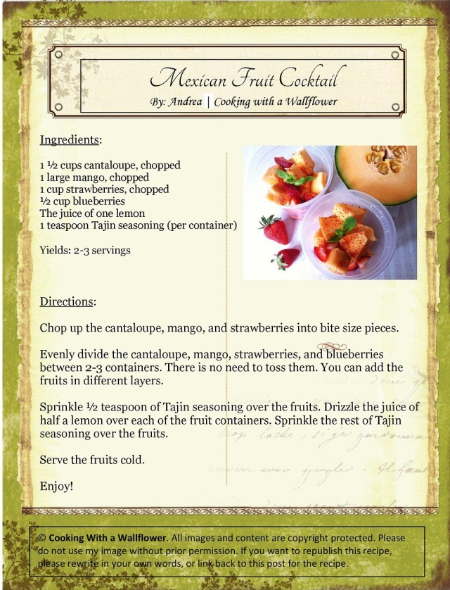 Mexican Fruit Cocktail Recipe Card